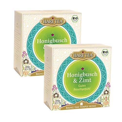 Hari Tea Gutes Bauchgefühl / Friede geht durch den Magen Honigbusch & Zimt, 2er Pack (2 x 20 g) - Bio