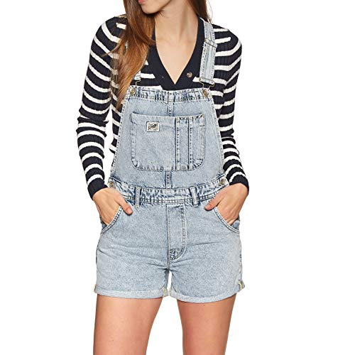Superdry Denim Dungaree Boyshort Womens Playsuit UK 8 Reg Cloudy Blue