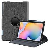 Fintie Hülle für Samsung Galaxy Tab S6 Lite - 360 Grad verstellbare Schutzhülle mit S Pen Halter, Auto Schlaf/Wach Funktion für Samsung Tab S6 Lite 10.4 SM-P610/ P615 2020, Jeansoptik dunkelgrau