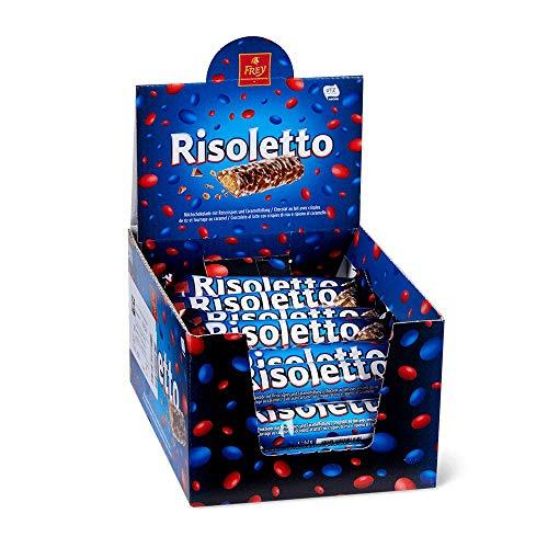 Frey Risoletto Classic Schokoriegel 30er Pack - Milchschokolade mit Reis-Crispies und Caramelfüllung - Schweizer Schokolade - Großpackung 30 Stück einzeln verpackt - UTZ Zertifiziert