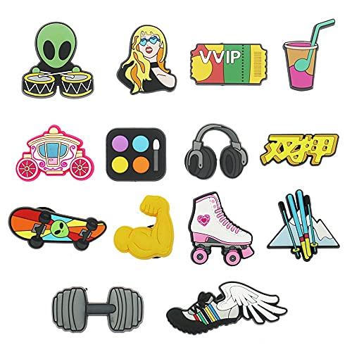 Y/X Decoración De Zapatos,Decoración De Zapatos De PVC,Charm Cartoon Lovely Shoes Decoración para Decoración De Fiestas Niños Crocs Adornos para Zapatos (Style : Cool)