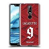 Head Case Designs Officiel Arsenal FC Alexandre Lacazette 2020/21 Joueurs Home Kit Groupe 1 Coque en...