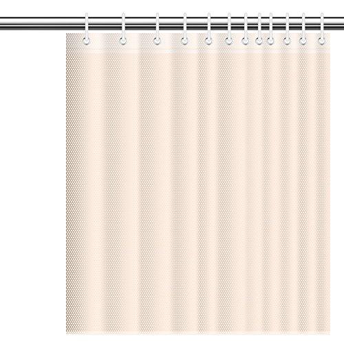 SIENOC Duschvorhang Anti-Schimmel Wasserabweisender Stoff PEVA mit 12 Duschvorhangringe für Badezimmer 180 x 200 cm (Gelb 1.8 * 2M(1 Stück))