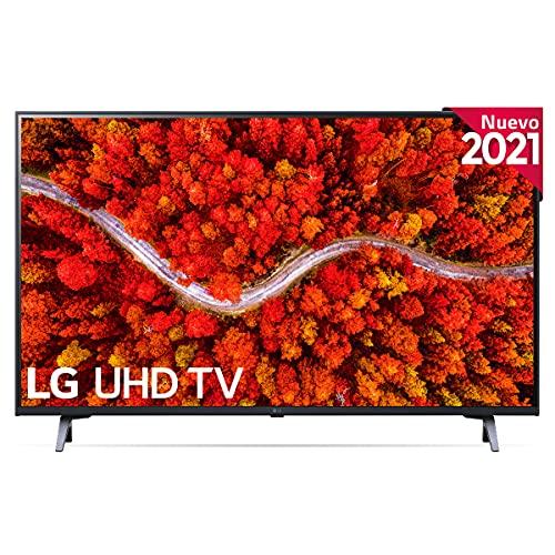 "LG 43UP8000-ALEXA 2021-Smart TV 4K UHD 108 cm (43"") con Procesador Quad Core, HDR10 Pro, HLG, Sonido Virtual Surround, HDMI 2.0, USB 2.0, Bluetooth 5.0, WiFi"