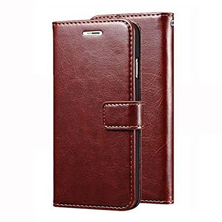 Casetegoo Vintage Pu Leather Wallet Card Holder Stand Flip Case Cover for Sony Xperia Z Ultra - (Executive Brown)