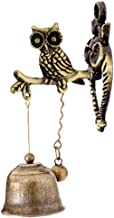 MUAMAX Antique Horse Shopkeepers Triple Bell Graden Porch Ornament,Brass Store Doorbell 3-owl-3