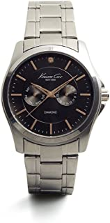 Men's 10022311 Genuine Diamond- Rock Out Analog Display Japanese Quartz Silver Watch