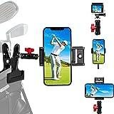 MSOAT Soporte para cámara de golf con 3 soportes para teléfono para analizador de swing de golf, compatible con tabletas o cualquier teléfono herramienta de ayuda de entrenamiento de golf