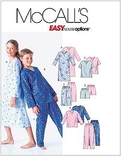 McCall's Patterns M6227 Boys'/Girls' Nightshirt, Tops, Shorts and Pants, Size CS (12-14-16)