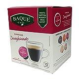 Cafés Baqué - 10 Capsulas Compatibles Dolce Gusto. Espresso Descafeinado
