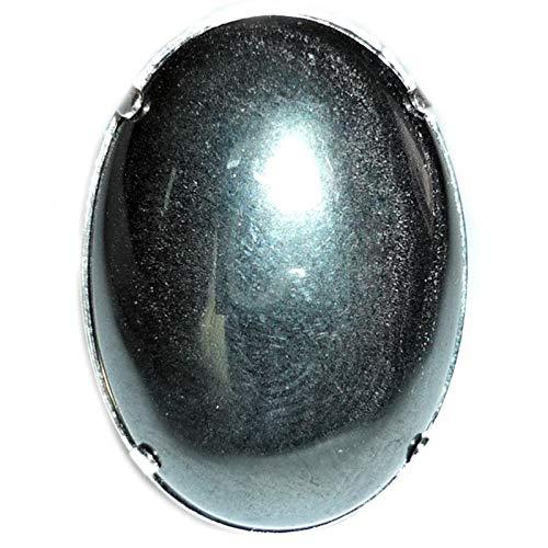 Vibrationen, Kristalle, Ring, Silber & Hämatit, groß