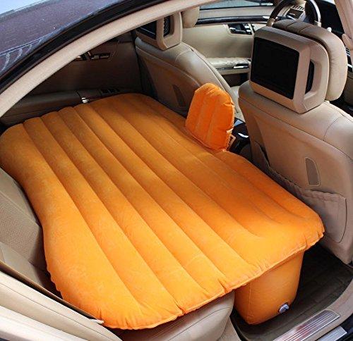 YL Auto Drehmaschine Auto Aufblasbare Bett Maschine Bett Gitter Geschnitzte Matratze Auto Reise Bett Bett,Orange,135 * 90 * 45cm