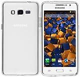mumbi Hülle kompatibel mit Samsung Galaxy Grand Prime Handy Hülle Handyhülle, transparent weiss
