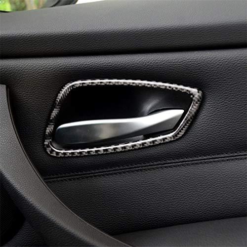 Etiqueta decorativa de la manija de la puerta del coche de la fibra de carbono for BMW E90 / 320i / 318i / 325i Alta calidad