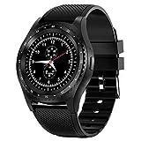 Smart Watch, 1.3' Touch Screen Smartwatch, Fitness Tracker Step Counter, Activity Tracker,Waterproof Sport Watch for Women and Men (Black)