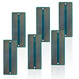 Treedix 6pcs Universal Board Solderable BreadBoard PCB Prototype Shield Board Double Sided Tinned Gold Plated Holes Compatible with Arduino Kit Raspberry Pi Shield Prototyping and Testing