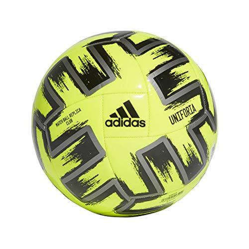 Adidas UNIFO CLB, Pallone da Calcio Uomo, Solar Yellow/Iron Met./Black, 5