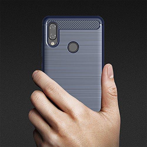 Elekin Hülle Kompatibel für Huawei P20 Lite, Handyhülle Kompatibel für P20 Lite Case Cover - Blau - 3