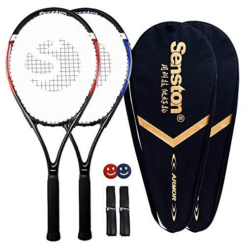 Senston Rakieta tenisowa – 68 cm 2 graczy rakieta tenisowa profesjonalna rakieta tenisowa, dobra przyczepność do kontroli, mostek z pokrywą, uchwyt tenisa, amortyzacja wibracyjna