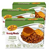 Kosher MRE Meat Meals Ready to Eat, Chicken Cholent & Kugel (3 Pack) - Prepared Shabbos Food Fully Cooked, Shelf Stable Microwave Dinner – Travel, Military, Camping, Emergency Survival Protein Supply