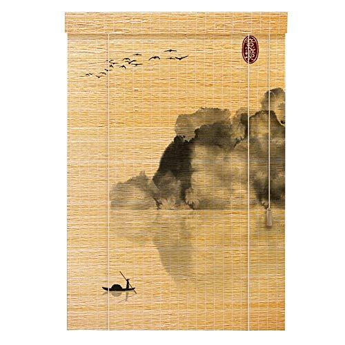 SGMYMX-Bamboo Curtain Persianas orientables de bambú de Muebles orientales Cortina de bambú (Pattern : C, Size : 120x180cm)