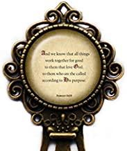 Romans 8:28 Love God According to his Purpose King James Version KJV Bible Bronze Bookmark