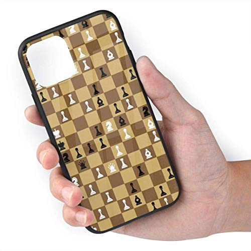 ZARLAY Piezas del Juego de ajedrez Tableros de ajedrez para iPhone 11 Celular Carcasa móvil Carcasa Trasera