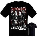 Metallica-Band- Grupo - Camiseta Negra Hombre Manga Corta - Metallica Tshirt (L)