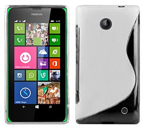 Cadorabo DE-101881 - Cover in Silicone TPU Flessibile per Nokia Lumia 630/635, Design S-Line, Colore: Trasparente