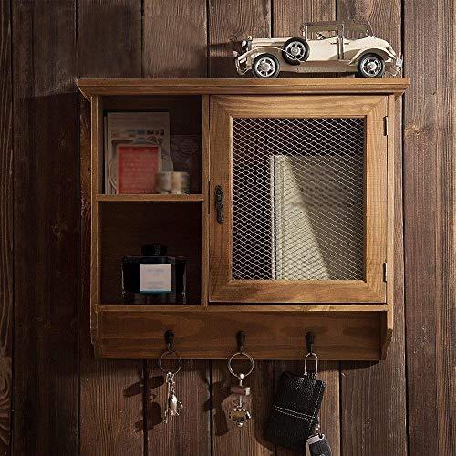 Zfggd Abarrotes montados en la Pared Maciza gabinetes de Madera Los Productos de Alambre de Malla for el hogar Armarios Craft Cajas de almacenaje