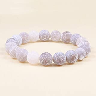 Anxiety Bracelet 10Mm Men Women Distance Bracelets Blue Natural Stone Beads Bracelet Bangles Yoga Girl Jewelry Gifts