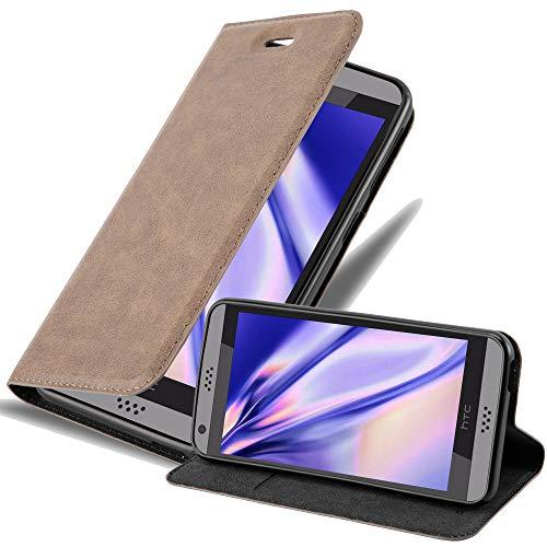 Cadorabo Hülle für HTC Desire 530/630 - Hülle in Kaffee BRAUN – Handyhülle mit Magnetverschluss, Standfunktion & Kartenfach - Case Cover Schutzhülle Etui Tasche Book Klapp Style