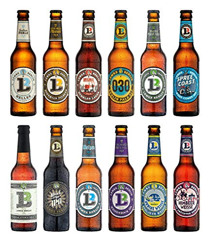 LEMKE Berlin Lemkes Bierwelt | Mix-Paket Craft Bier, Bier-Mix, Bier Box Craft Beer (12 x 0,33l)