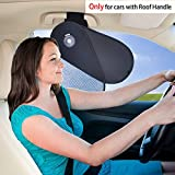 TFY Car Interior Roof Handle Sunshade Glare Reduction Plus Sun Protection for Driver and Passengers - for Ford, Chevrolet, Buick, Audi, BMW, Honda, Mazda, Nissan and Others