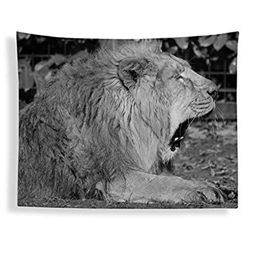 Kpcxdp Tapices de Pared, Mantas para Dormitorio y salón, Papel Pintado de Mantel (Color: león A, tamaño: 130 150cm)