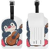 Etichetta bagaglio Valigia pacco viaggio Valigia cartone animato cartone animato violino pinguino Etichetta 687795-LGT-2442