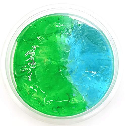 SeniorMar-UK Farbverlauf Kristallschlamm Schleimwolke Baumwollschlamm - blau + grün