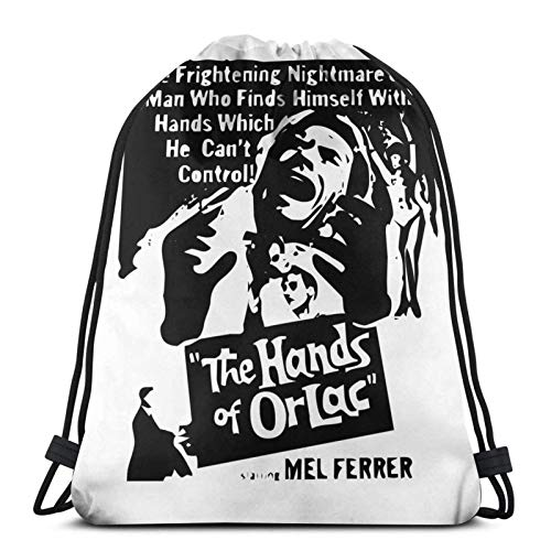 The Hands of Orlac Sport Sackpack Drawstring Backpack Gym Bag Sack