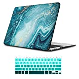 iLeadon MacBook Air 13 inch Protective Hard Case Rubber Coated Ultra Thin Shell Cover+Keyboard Cover for Older Version MacBook Air 13 inch Model A1369/A1466 (MacBook Air 13', River Sand)
