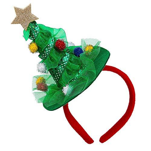 Widmann 09690 Weihnachtsbaum Haarreifen, Unisex– Erwachsene, Grün, Einheitsgröße