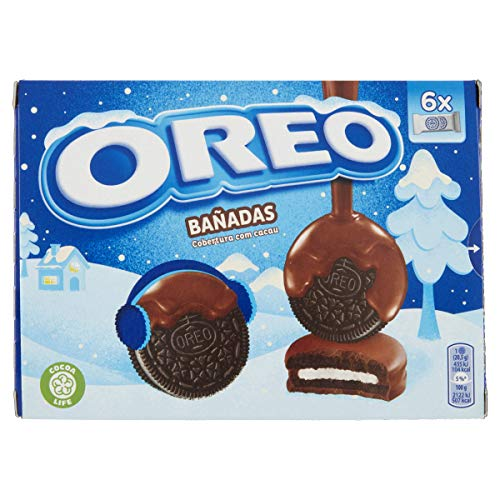 Oreo Banadas - Biscotti al cacao magro ripieni di crema alla vaniglia ricoperti di cioccolato al latte 246g