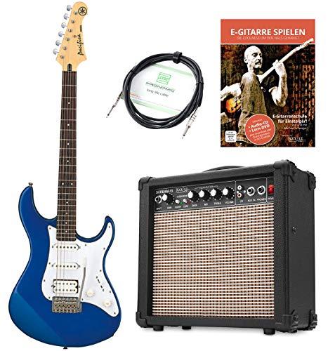 Yamaha Pacifica 012 DBM E-Gitarre (Set inkl. 15 Watt Combo Verstärker und Kabel) Blau