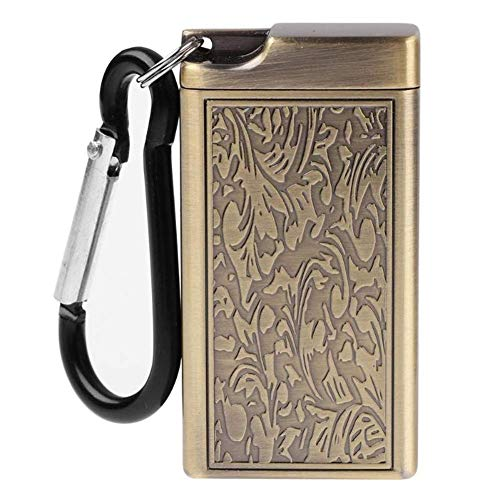 AMITD Mini draagbare asbak sigaret keychain outdoor tas roken roken as dienblad met deksel sleutel ketting voor reizen Goud goud