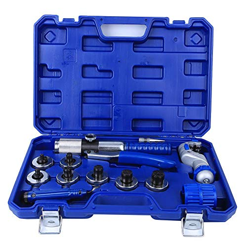 Hydraulic Tube Expander Kit, professionelles Rohrverbreiterungswerkzeugset Tube Expander + Expander Head + Cutter + Trimmer + Tip + Reibahle für 10-28 mm Kupfer-/Aluminiumrohre