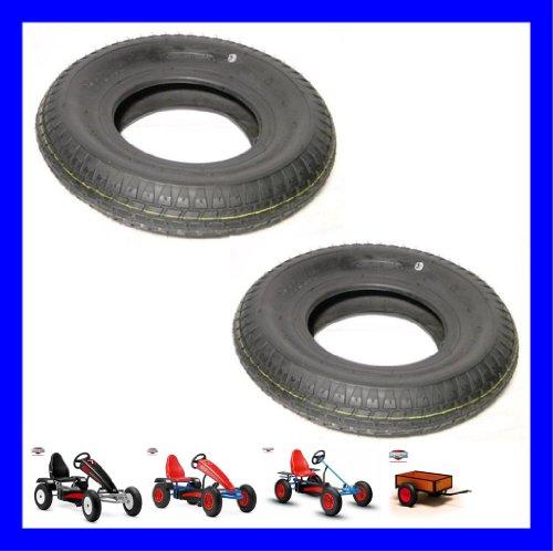 Berg Toys 2 x Reifen 400 x 8 Ersatzteil 42.22.01.00 zu Basic Extra AF Sport Gokart
