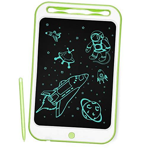 Richgv Aggiornato LCD Writing Tablet, 10 Pollici Elettronico Tavoletta Grafica Digitale Scrittura, Ewriter Paperless Disegno Pad con Memoria di Blocco per Bambini della Casa Scuola Ufficio (Verde)