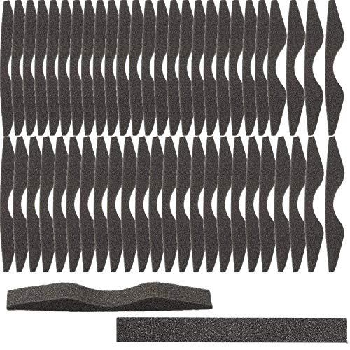 Nasensteg-Pads, Mikrofaser, Memory-Schaum, Anti-Beschlag-Beschichtung, selbstklebend, 50 Stück