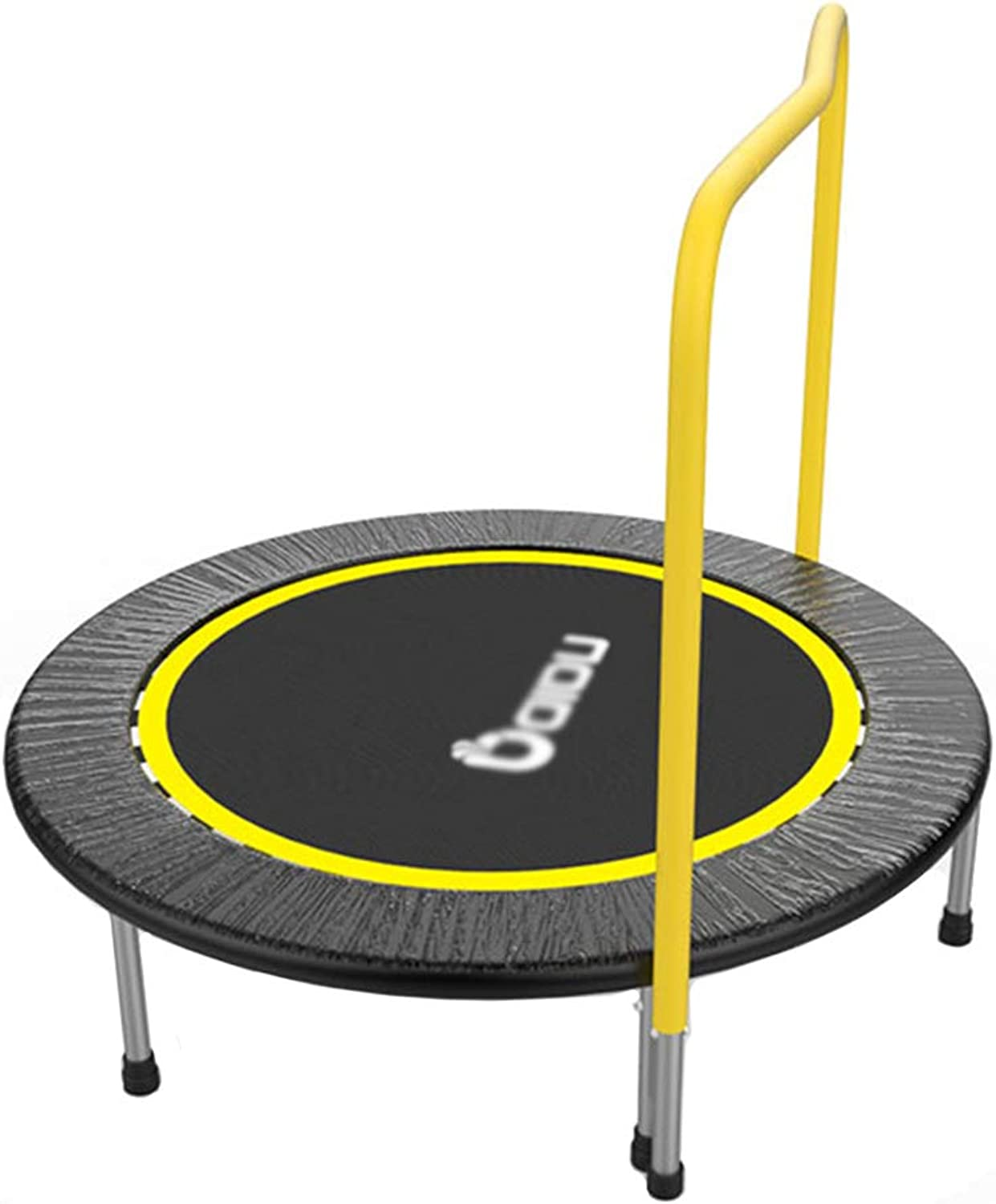 LXLA  Kids Mini Trampoline Portable Bouncer with Handrail and Predective Frame Cover  Max Load 250KG
