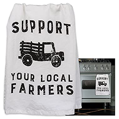 Primitives By Kathy Tea Towel, Dish Towel Support Your Local Farmers