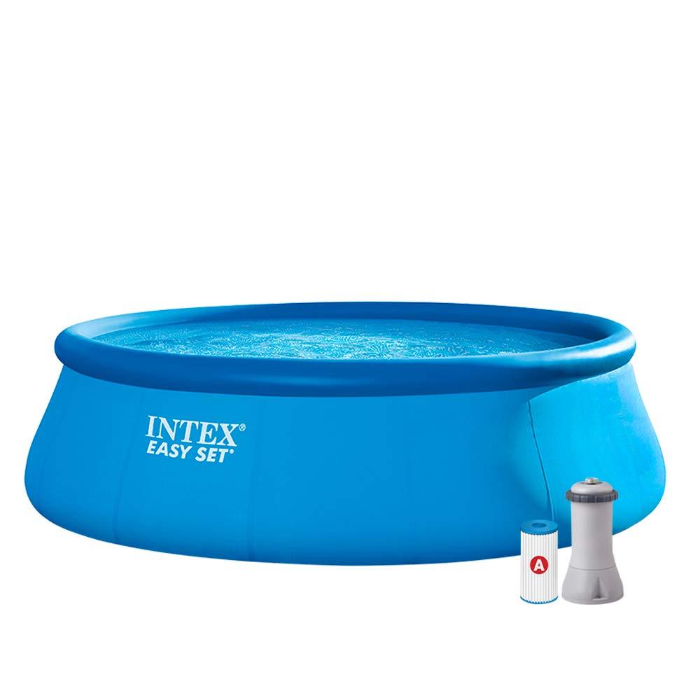 Intex 26168NP Piscina hinchable, con depuradora, 14.141 litros ...